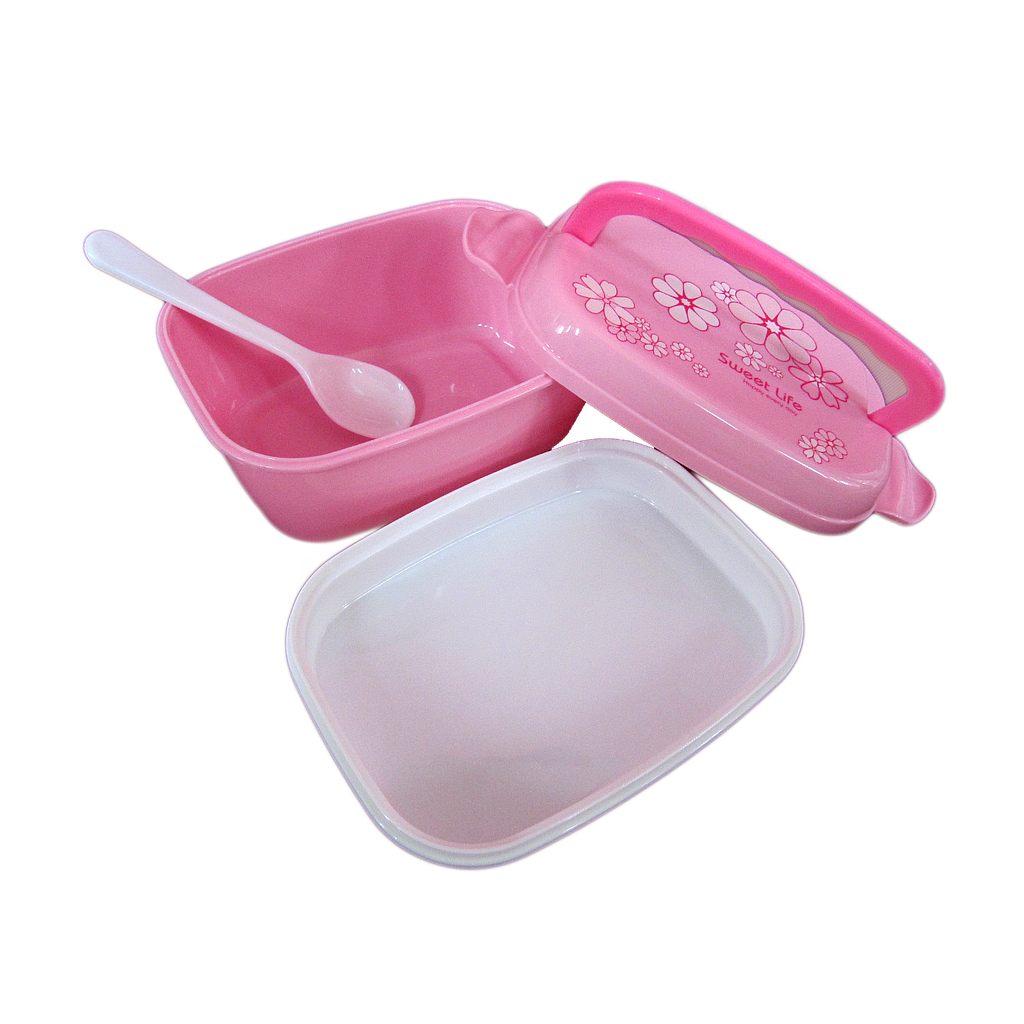 LUNCH BOX PLASTIC SQUARE YW11580